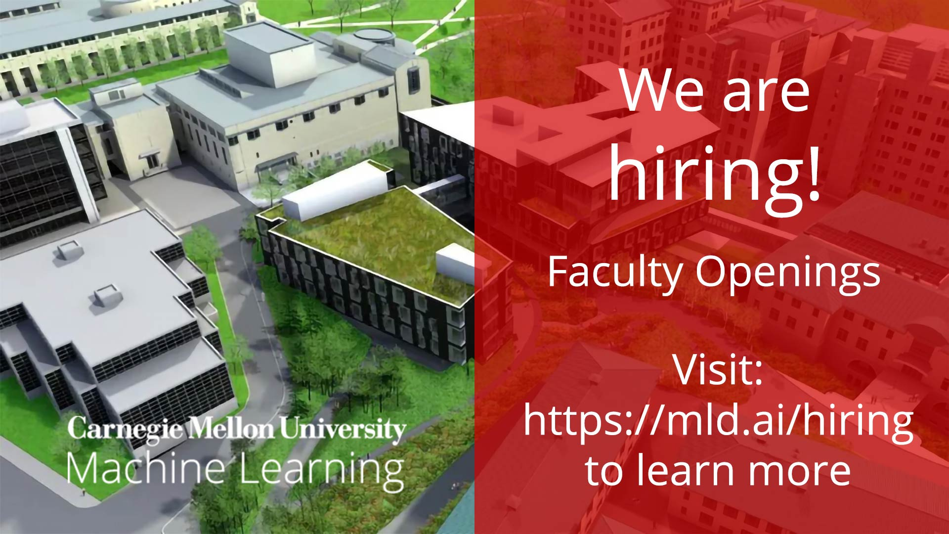 Faculty Openings in the Machine Learning Department