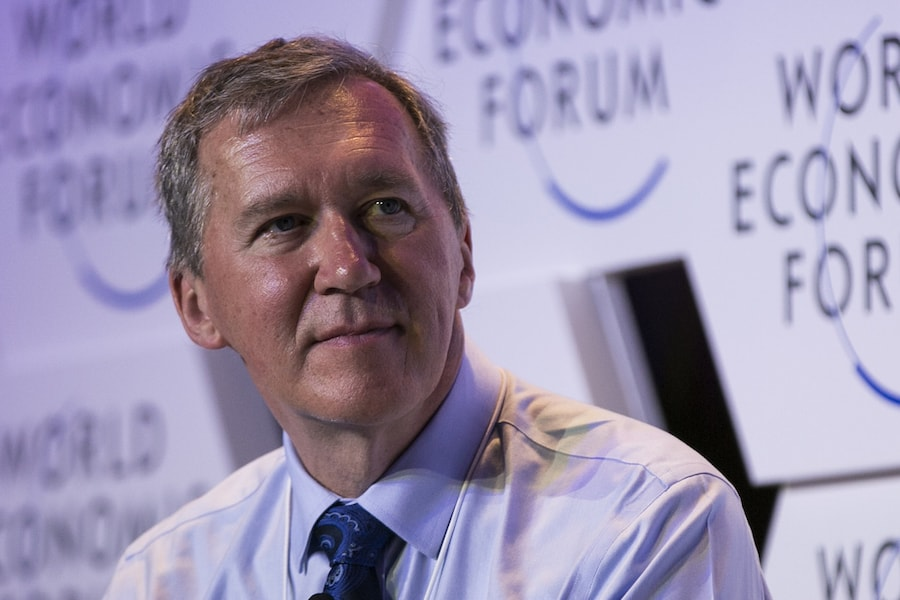 Close-Up Photo of Tom Mitchell at 2017 World Economic Forum