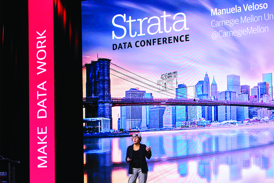 Manuela Veloso Presents Research at Strata Data Conference